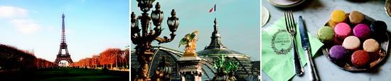 tour eiffel - bridge of paris - macarons ladurée