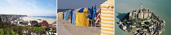 normandy beaches - mont st michel