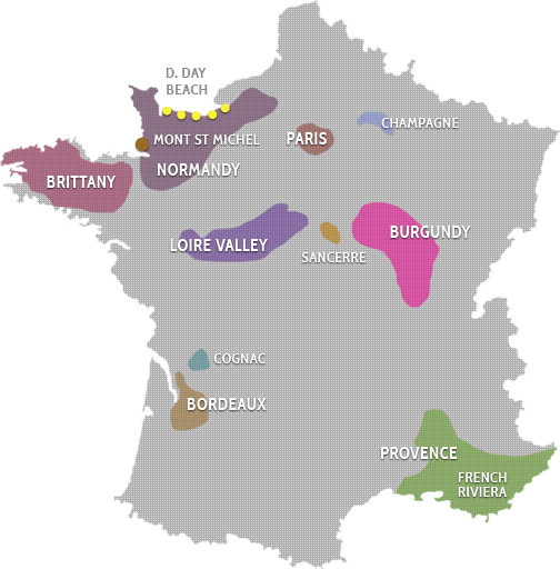 Cognac Region Of France Map.Interactive France Map Luxury Tours France